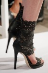 High ankle strapped heels at Oscar de la Renta