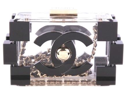 Chanel clear clutch