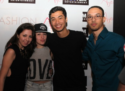 Michael Brun (middle) with some of his fans