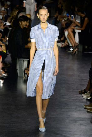 Gingham at Altuzarra
