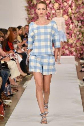 Gingham at Oscar de la Renta